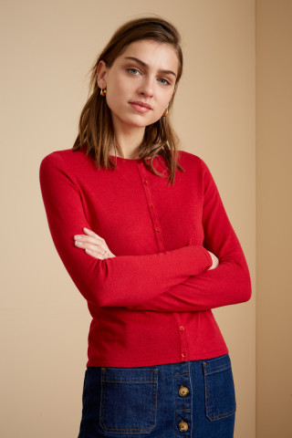 Cardigan Col Rond Cocoon