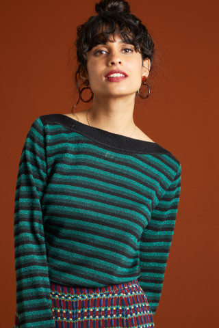 Top Audrey Dazzle Stripe