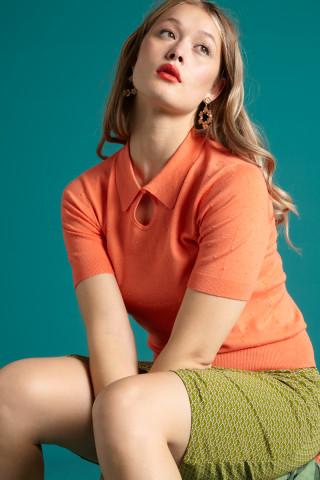 Collar Knit Top Droplet
