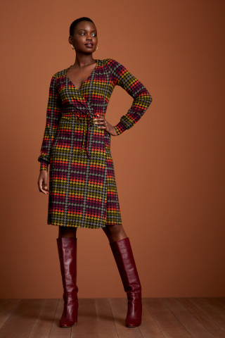 Robe Portefeuille Mandy Houndstooth