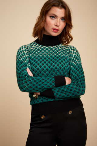 Top Col Roulé Pastery Knit