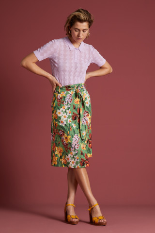Lola Button Skirt Tula