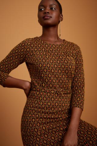 Robe Longue Polly Honeycomb