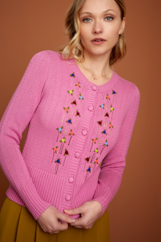 Cardi Col Rond Toffee