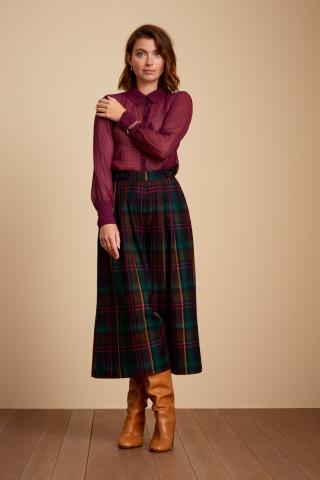 Pantalon Culotte Frances Larousse Check