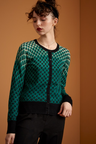 Cardi Col Rond Pastery Knit
